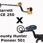 Comparativo Bounty Hunter Pioneer 501 X Garrett ACE 250